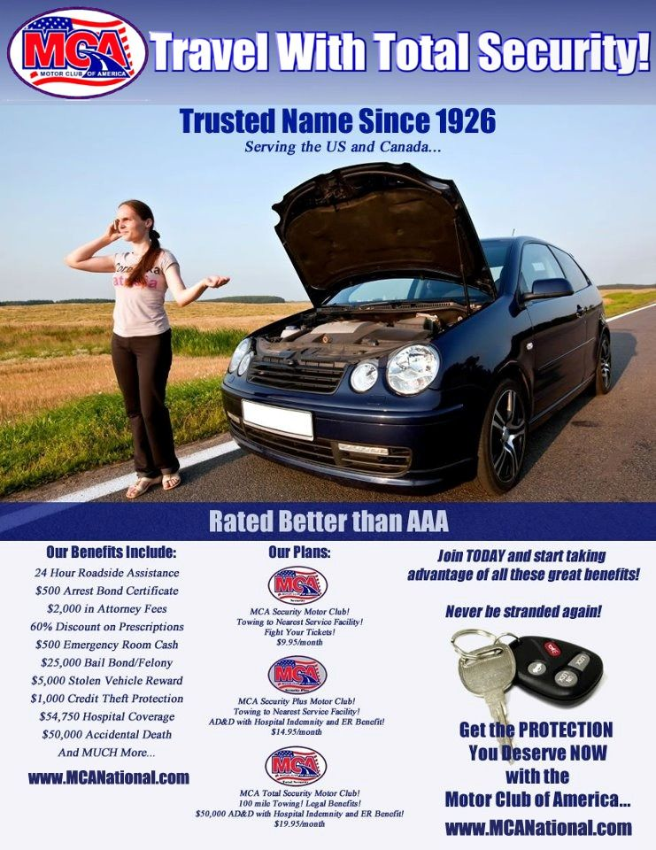 Motor Club Of America Rated Better Than Aaa Roadside Assistance