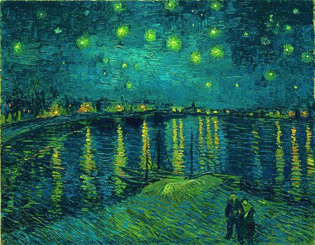 Vincent van Gogh. Noche  estrellada sobre el Ródano,  1888.