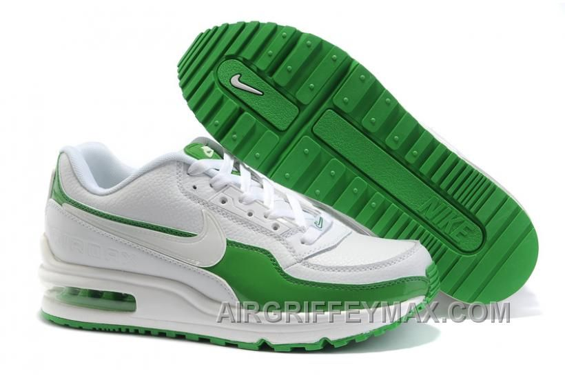 New Arrival Inexpensive 2014 New Air Max Ltd 01 Mens Shoes White Green,  Price: $97.00