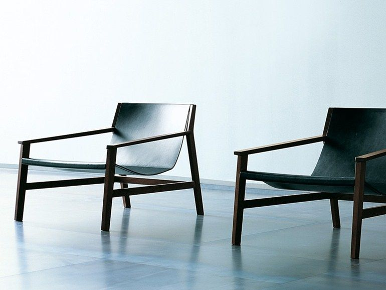 TANNED LEATHER ARMCHAIR WITH ARMRESTS SDRAIO   LIVING DIVANI ...
