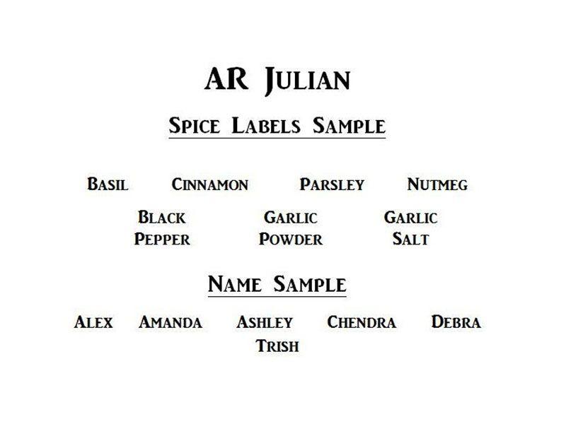 AR Julian Font Family Free Download - Fonts Empire | AR