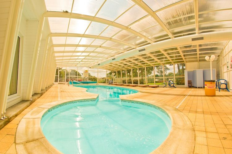 Indoor Swimming Pool At Cross Park Holiday Village In Wales.