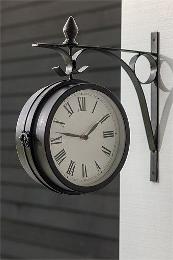 Side Mounted Station Clock Wall Clock Hanging Clock Travel Themed Room