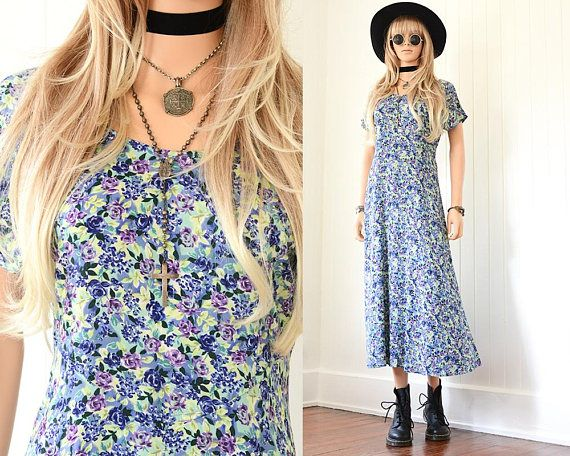 1bae94e84121 90s Floral Dress 90s Grunge Dress Floral Maxi Dress Long Floral Dress 90s  Dress Floral Dress Vintage