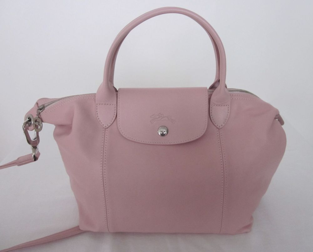 b2957fdfbc Longchamp Le Pliage Cuir Bag Leather Small Tote OP  495. Light Pink NWT   Longchamp  Tote  325.