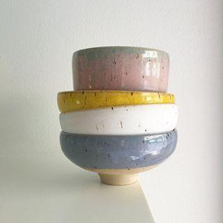 #stillebentoday Studio Arhoj's Summer/Winter bowls . Stoneware, Hand-Thrown in Copenhagen #madeincopenhagen @studioarhoj #stilleben #stillebenshop #stillebencopenhagen