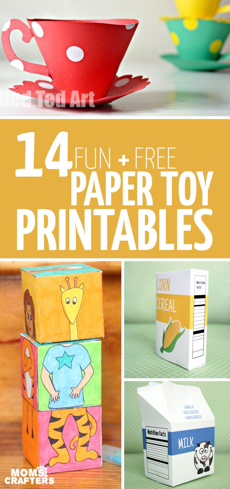 Paper Toy Templates - 14 Free Printables to Craft and Play