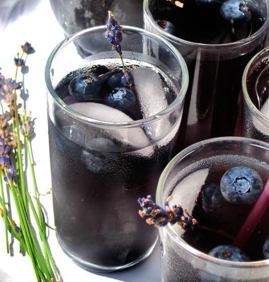 """ Blueberry Lavender Vodka Spritzer "" In 2019"