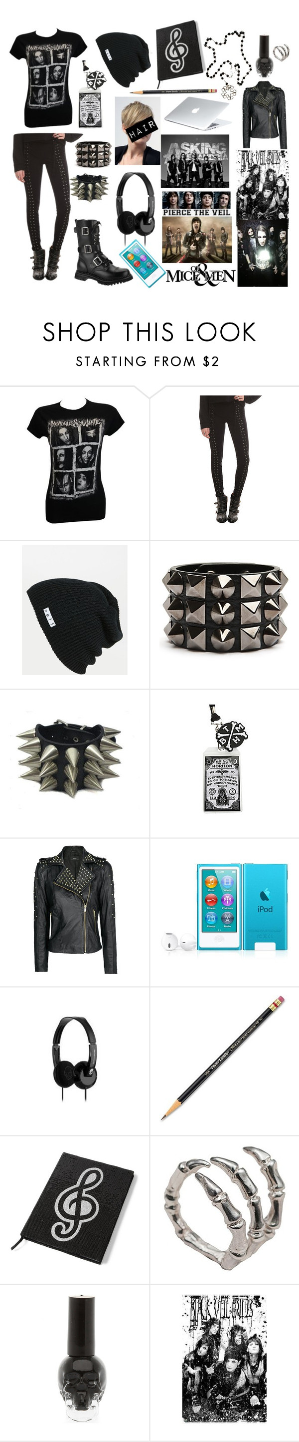 """""""Back To School -_-"""" by bvb-bekka ❤ liked on Polyvore featuring Neff, MANGO, Skullcandy, Paper Mate and Bernard Delettrez"""