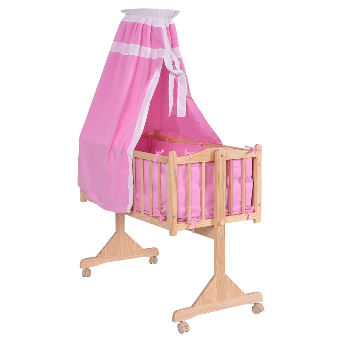 Baby Cradle Dimensions Details About Wood Baby Cradle Rocking Crib Newborn Bassinet