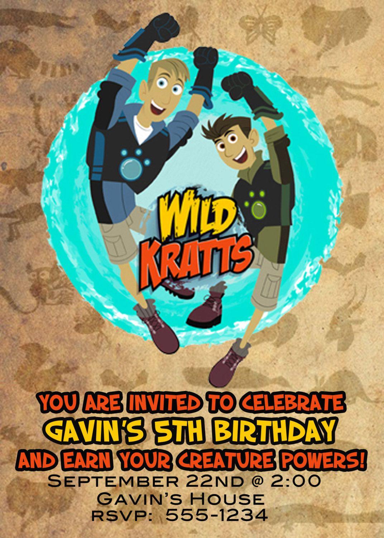 Wild Kratts Birthday Invitation By Alintz On Etsy 10 00
