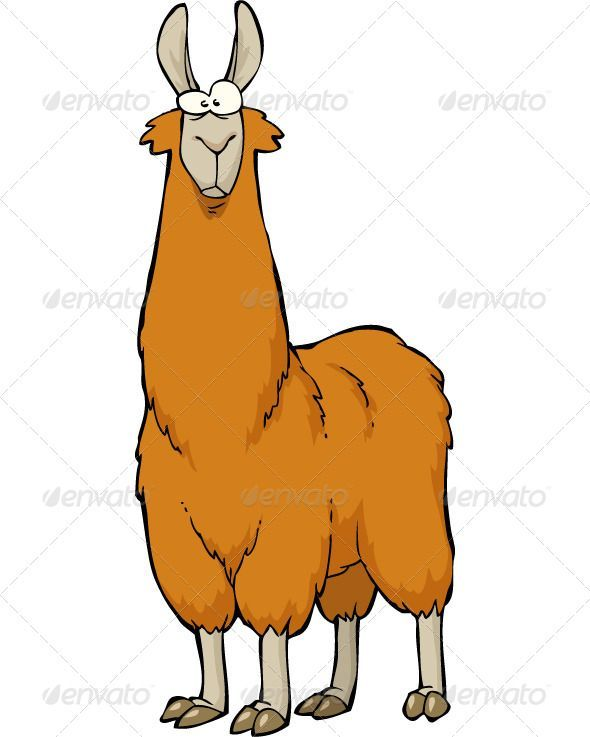 lama llama, alpaca, animal, brown, cartoon, character, cute