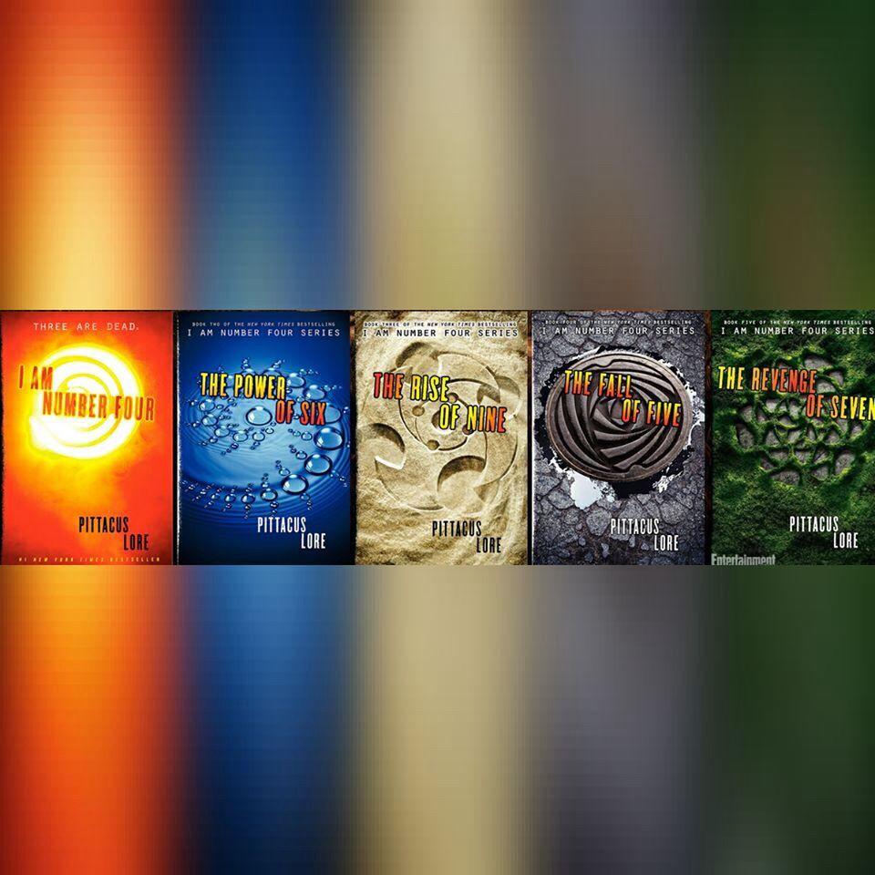 The I Am Number Four series by Pittacus Lore. This is one ...