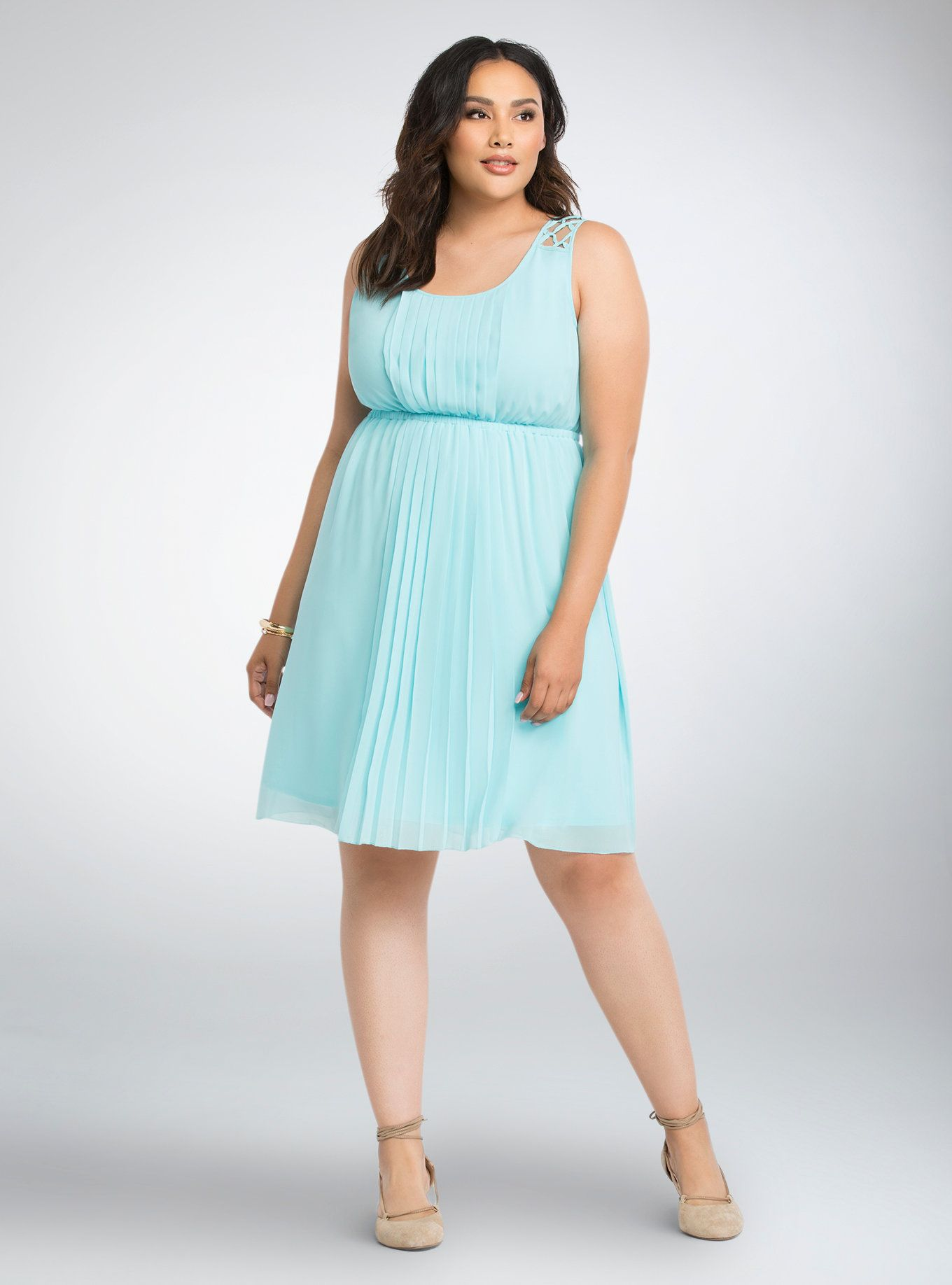 Pleated Lattice Strap Dress | Torrid, Fashion clothes and Clothes