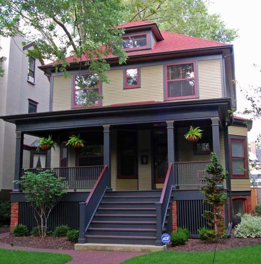 Brick Home Exterior Color Schemes: Exterior Paint Schemes For Foursquares
