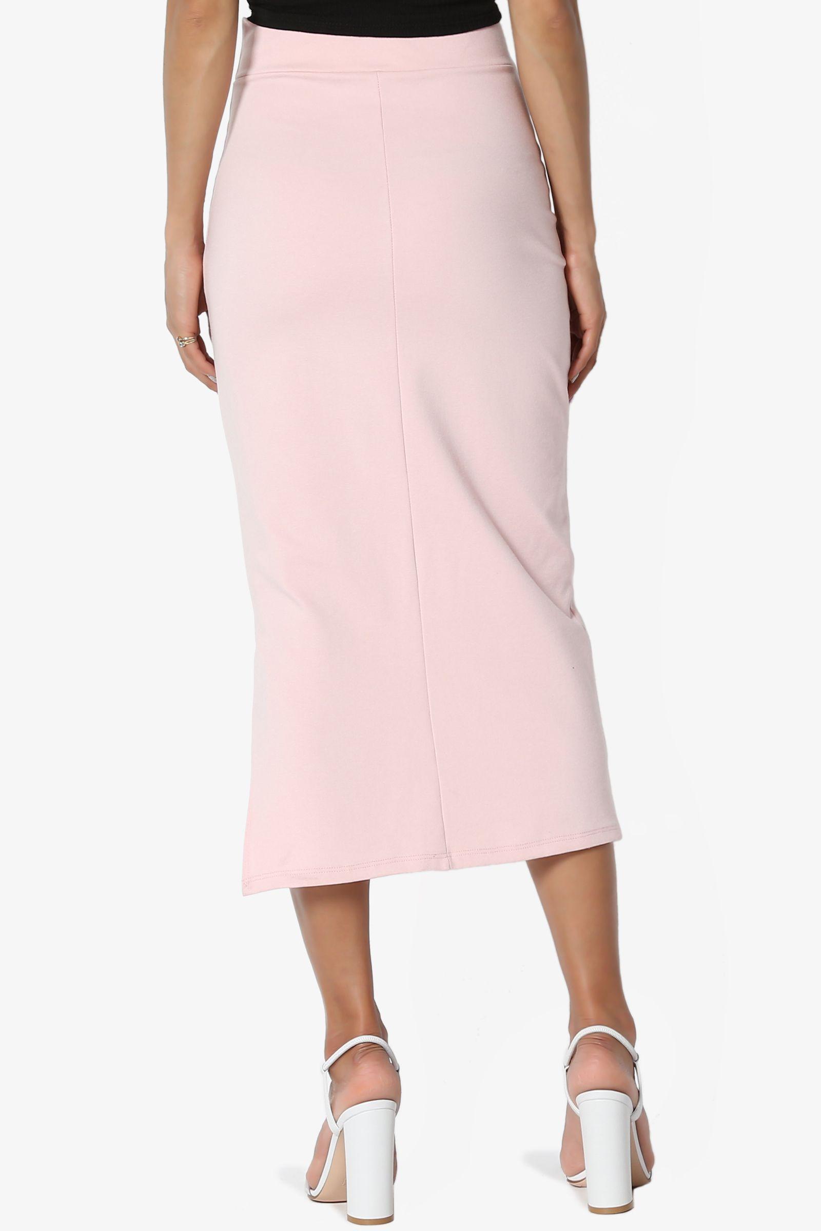 aeb1147bb7 TheMogan Women's S~3X Side Slit Ponte Knit High Waist Mid Calf Long Pencil  Skirt #Ad #Slit, #affiliate, #Ponte, #Knit