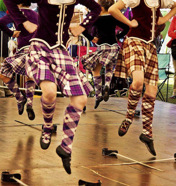 Fancy Footwork Highland Games Scottish Culture Burgundy Vest
