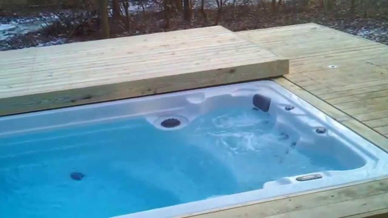 Motorized deck, pool/giant hot tub | Plunge Pools | Pinterest | Hot ...