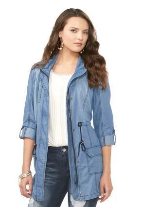 5e3c9e87faa47 Cato Fashions Chambray Anorak Jacket  CatoFashions