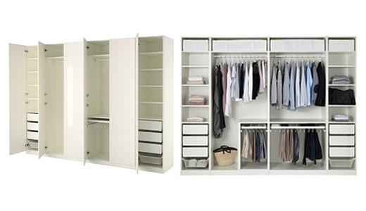 IKEA Kleiderschränke, wie z.B. PAX Kleiderschrank, weiss, Fardal Hochglanz/weiss