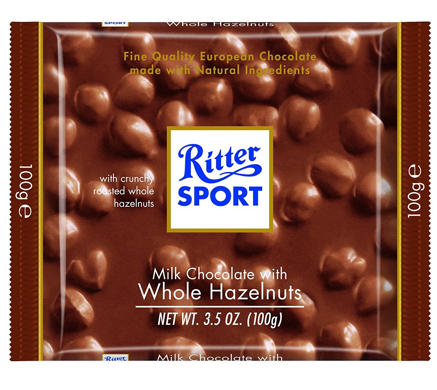 Image result for RITTER SPORT MILK CHOCOLATE WHOLE