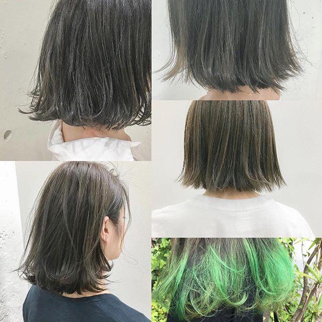 カーキグレー 秋にかけて人気になるカーキカラーはグレーとmixすると今年っぽいですよ#khakigrey #Photo #khaki #girly #haircolor #make #hairstyle #color #hair #tokyo #ハイライト #カーキグレー #表参道 #カーキカラー #ヘアカラー #ハイライト #khakihair #ブルーフェーセス #美容学生 #ボブ #美容師 #ネイビーアッシュ #ヘアメイク #シースルーカラー #透明感カラー #暗髪 #mery_hairstyle #カーキヘアー