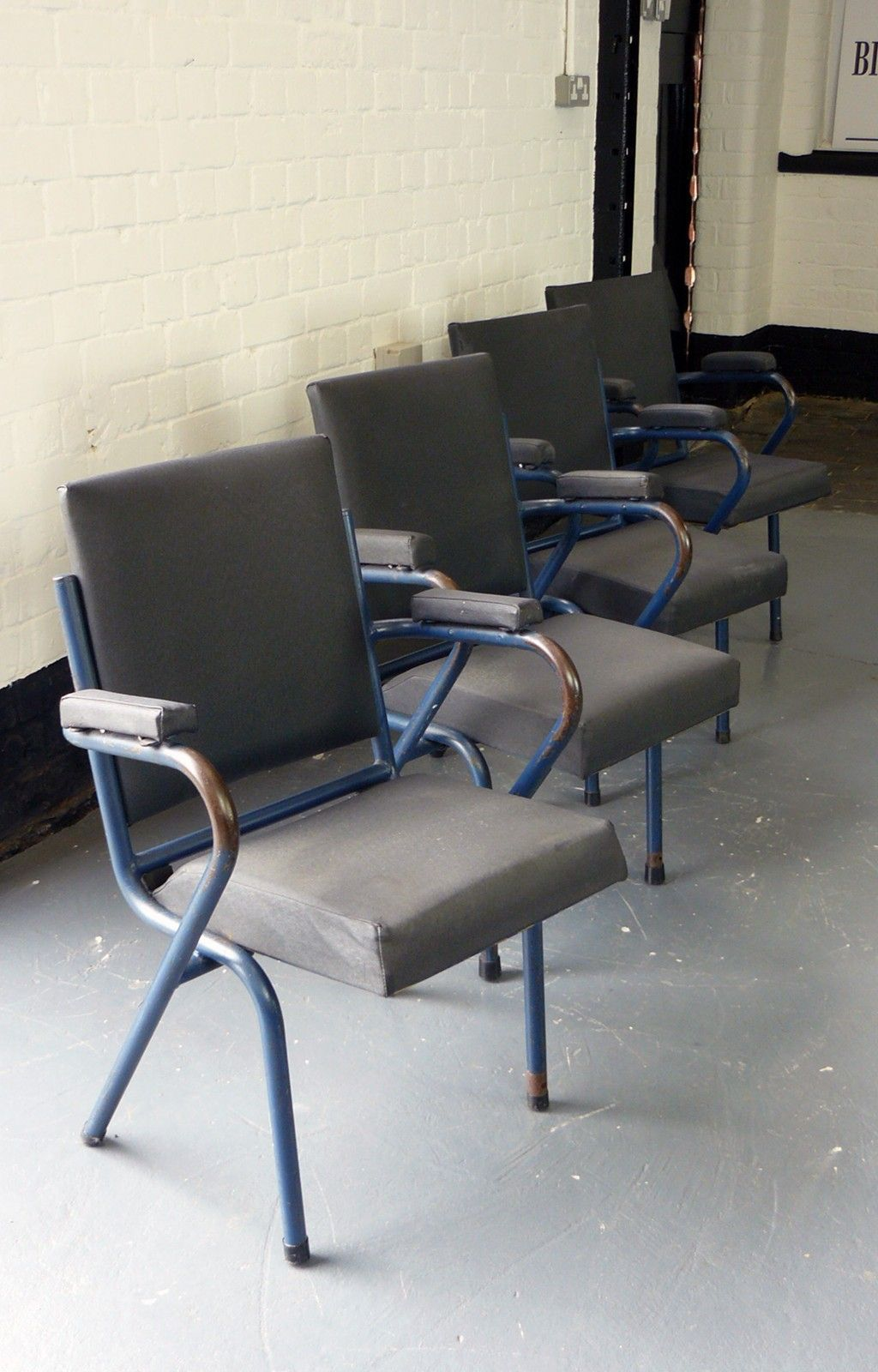 PAIR OF VINTAGE 1940S/50S INDUSTRIAL WORK CHAIRS Billy Hunt Vintage  Industrial