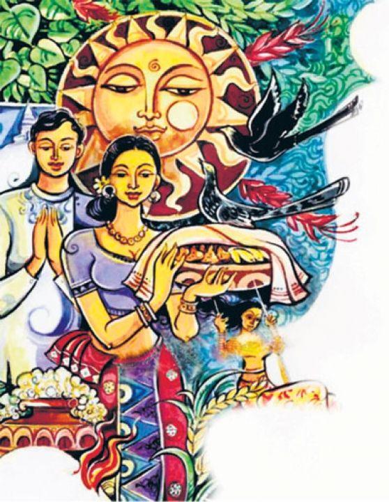 Image result for sinhala avurudu art