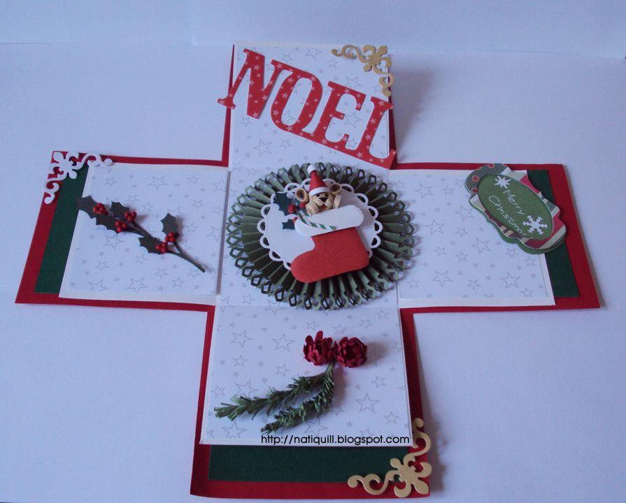 NatiQuill Blog: Christmas Explosion Box !