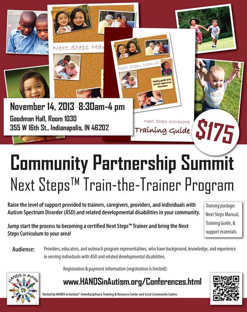 Hands In Autism Community Partnership Summit Next Steps Train