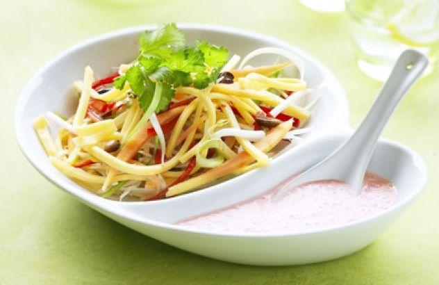 Salade van Brugge Goud, groentjes en honing-dressing