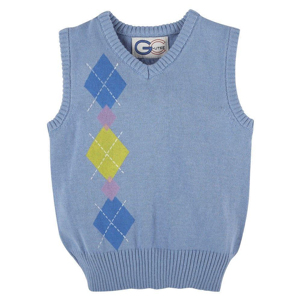 Toddler Boys' Argyle Sweater Vest - Light Blue 7, Toddler Boy's ...