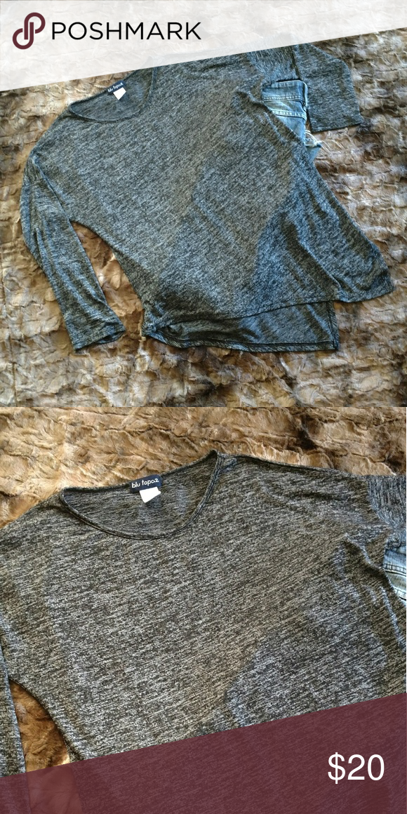 Blu Topaz Tunic. Ultra soft. Size Medium This is new without tags. Purchased but never worn. Super cute Heather black tunic with irregular hem to add to this chic style. Size medium Blu Topaz Tops Tunics