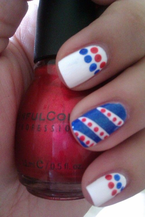 Memorial Day nails: Pure Ice Super Star, Sinful Colors Under 18 ...