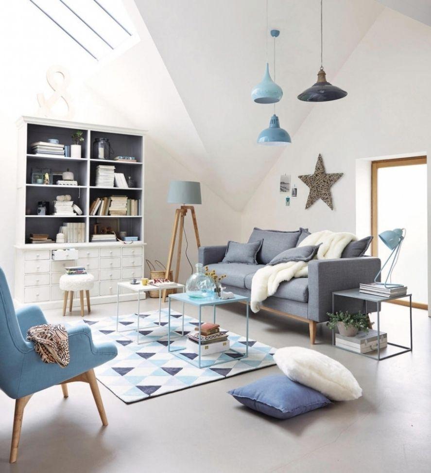 Attraktiv Wohnzimmer Hellblau