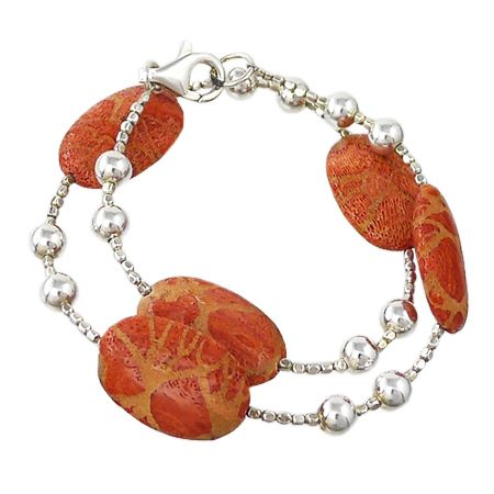 Bracelet made with natural Malaysian Madrepore