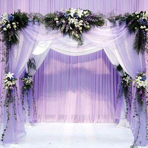 Size 48cm 4 5m Wedding Decoration Organza Silk Flower Heart Shaped Arches Sheer Crystal Fabric Door