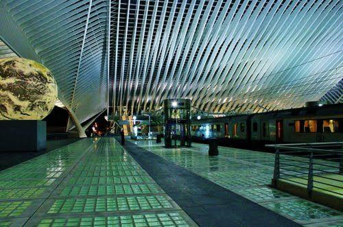 Interior de la estación de Lieja-Guillemins