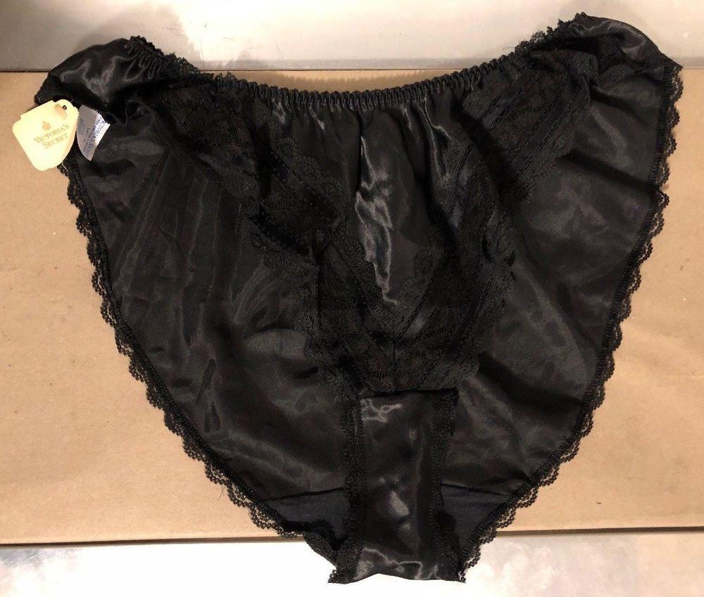 2d8fa92a2c Victoria s Secret Panties VINTAGE High-Cut Ruffle SILKY 80s 90s Second Skin  L  VictoriasSecret