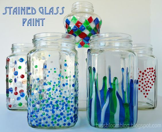 5 Diy Stained Glass Vases And Jars Diy Thought Painting Glass Jars Stained Glass Diy Glass Jars Diy