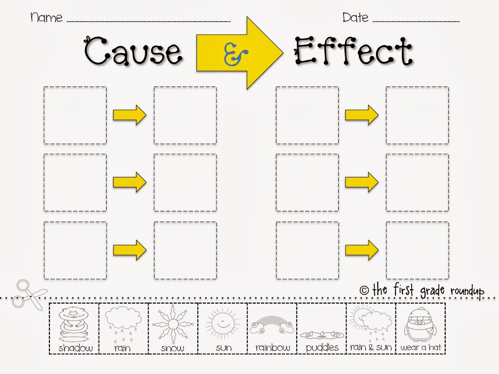 worksheet Cause And Effect Worksheets For 4th Grade cause effect sort freebie thefirstgraderoundup blogspot com water cycle collaborative posters are a great way to show off what weve learned about and effect
