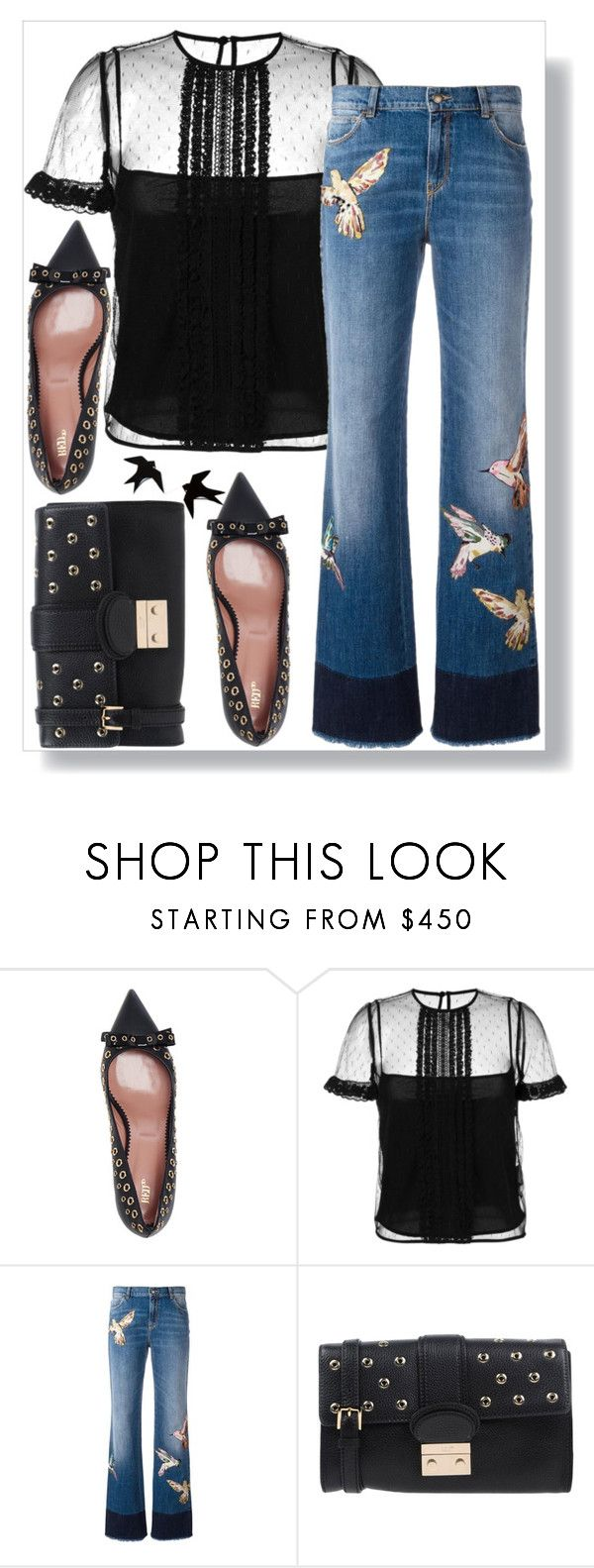 """""""Bird Print for Spring"""" by easy-dressing ❤ liked on Polyvore featuring RED Valentino"""