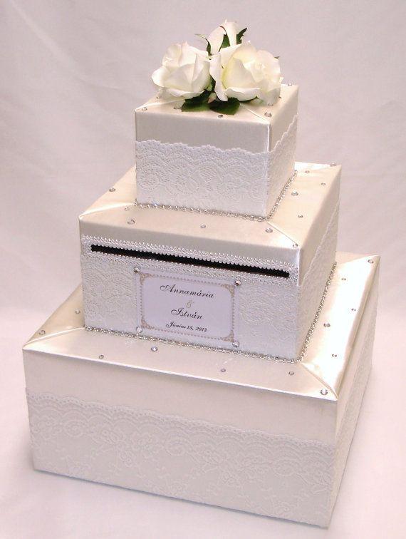 Elegant Wedding Card Box- Lace design-any colors | Jackie ...