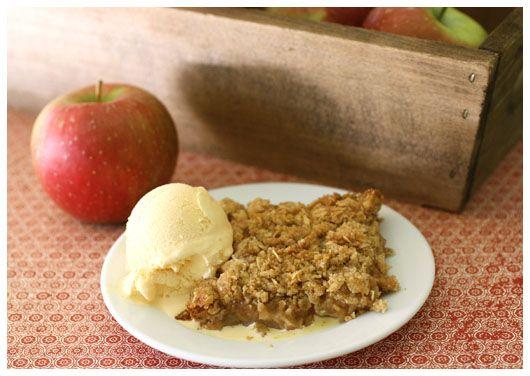 apple crisp & ice cream