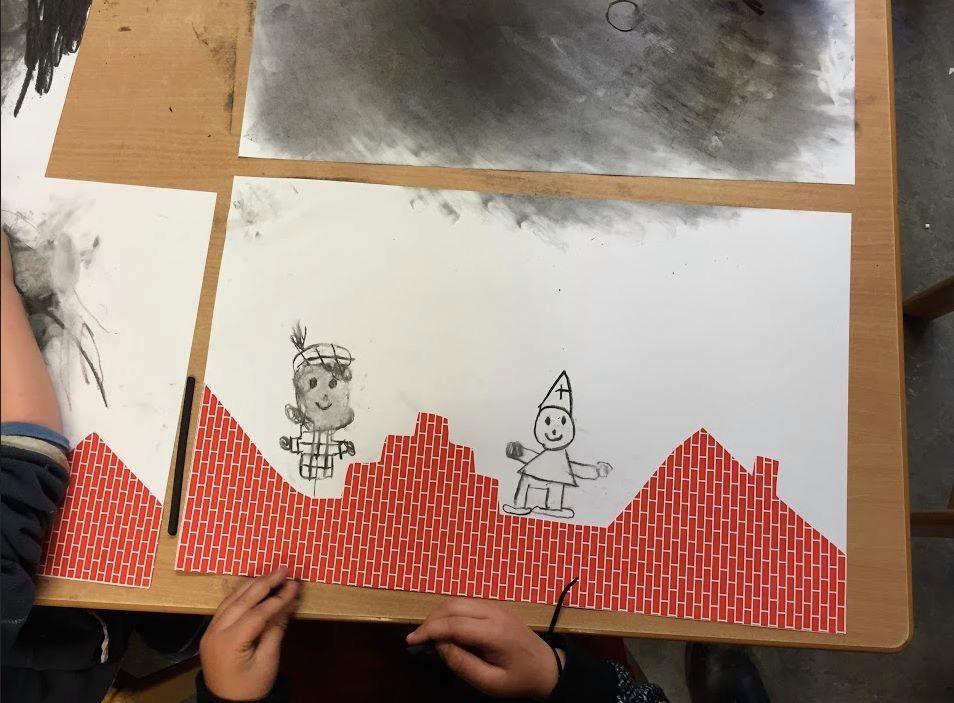 Sint en piet op de daken @de spelende kleuter