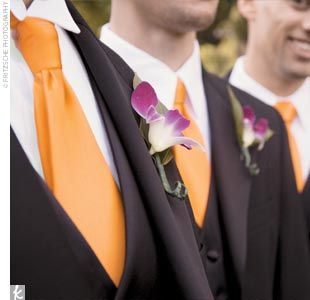 Wedding Tuxedos Burnt Orange Pictures Zach And His Three Groomsmen Wore Tu With Ties To
