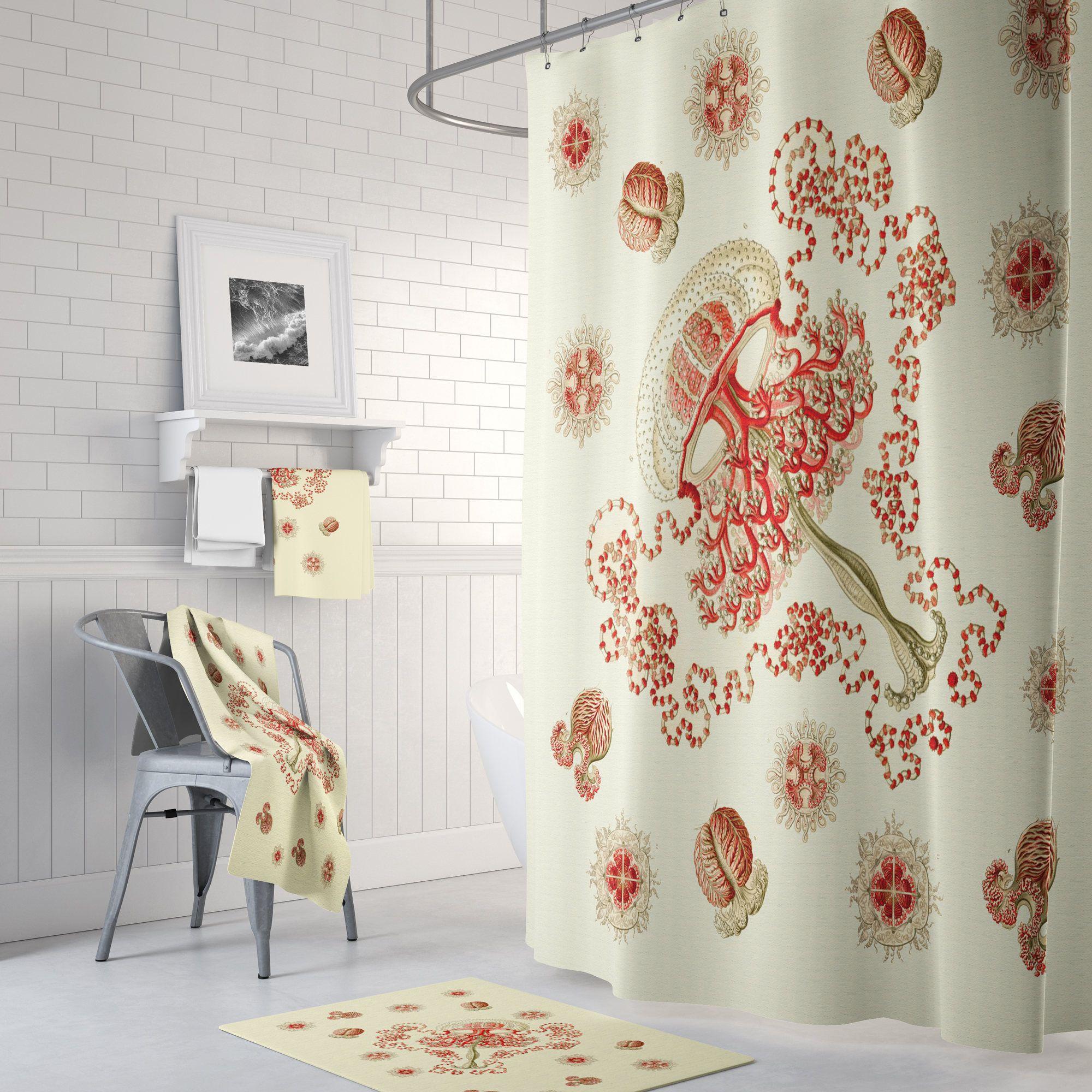 Shower Curtain Shower Curtain Vintage Sea Life Shower Curtain