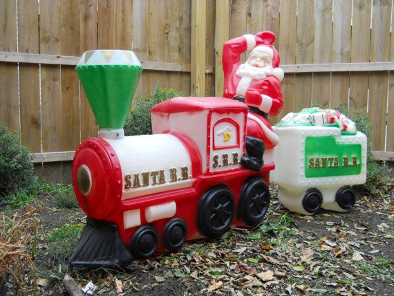 Vintage JUMBO Santa Express Blow Mold by VeiledThroughTime ...