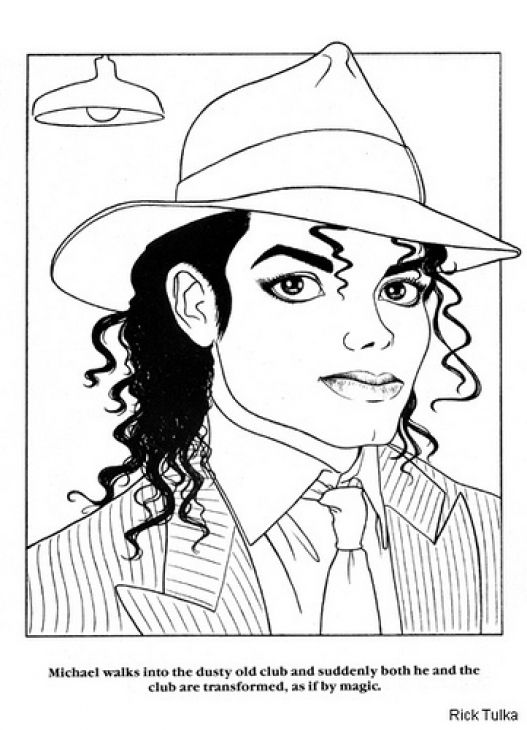 King of pop Michael Jackson coloring page | Famous People Coloring ...