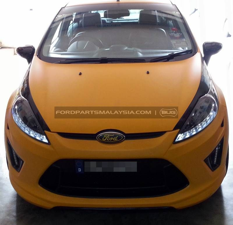Projector Headlights With Led Black Top Ford Fiesta 08 13